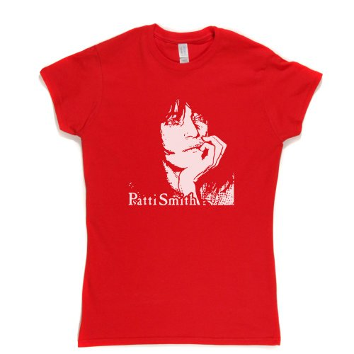 Patti Smith Womens Fitted T-Shirt Rot