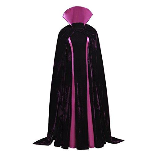 Cosplayitem Damen Mittelalter Kleid und Cape Cloak Halloween Kostüm Hexe Cosplay (Kostüme Maid Custom)