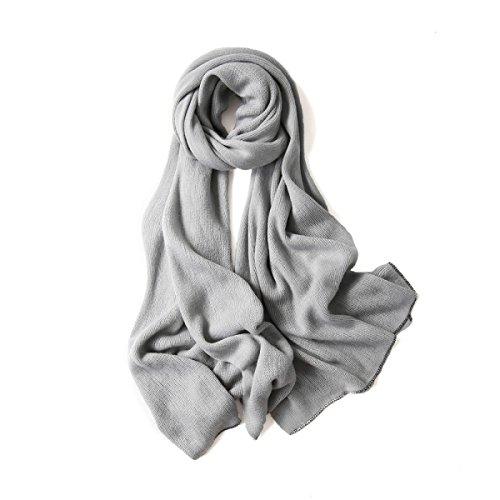 220 Kunst (SCRAF Women's Warmer Strick Schal Weicher Druck Schal Eingewickelt Herbst-und Wintersaison ,Grey2-60*220cm)