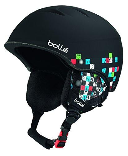 Bollé 30993 Cascos de Esquí, Unisex niños, Negro (Soft Black Checker), 49-53 cm