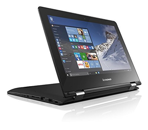 Lenovo Yoga 300 29,46cm (11,6 Zoll HD Glare) Convertible Notebook (Intel Celeron N3060, 2,48GHz, 4GB RAM, 32GB eMMC, Intel HD Grafik 400, Touchscreen, Windows 10 Home) schwarz -
