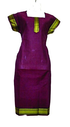 U P Khadi and Handloom 100% South Cotton Material Ladies Kurtis, Ladies Top's, in different variant Plain Colour's Size XX-Large (44) (Maroon)  available at amazon for Rs.385