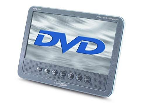Caliber MPD178 17.78 cm (7 Zoll) tragbarer DVD-Player mit wiederaufladbarer Batterie, schwarz