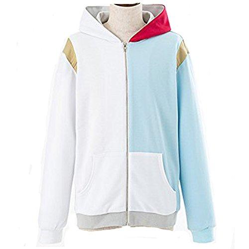 Einfach Kostüm Cosplay Anime - Wellgift Akademie Hoodie Kapuzenpullover Cosplay Kostüm Teens Anime Reißverschluss Baumwolle Jacke Sweatshirt Kleidung Top für Männer und Frauen (White, X-Large)
