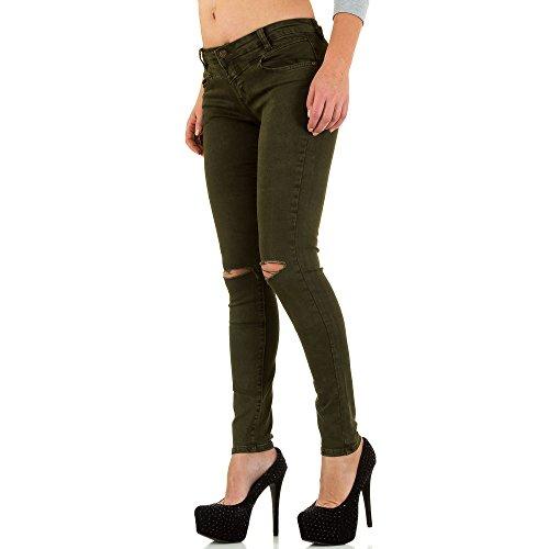 iTaL-dESiGn - Jeans - Skinny - Femme Kaki