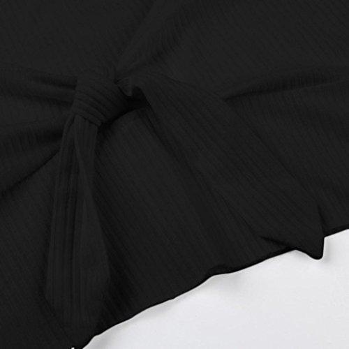 Débardeur, Malloom Femmes Bow Solid Sexy sans bretelles gilet sans manches Noir