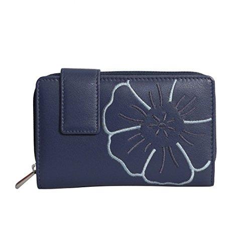 branco-leder-sehr-feine-trifold-leder-damen-geldbrse-portemonnaie-ladys-wallet-mit-aufgesticktem-blu