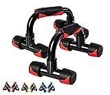 Readaeer Poignées d'appui pour Pompe/Push-Up Bars pour Musculation (Rouge)