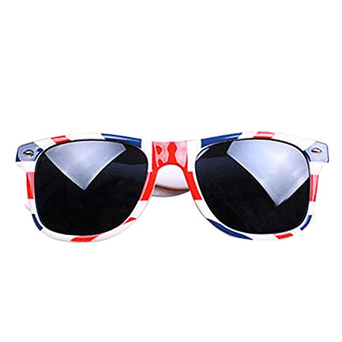 YUAN Clearance Men Women Vintage Square Sunglasses,Novelty Mosaic British/USA Flag Unisex Design Aviator Goggles Glasses Cool Unique (British)