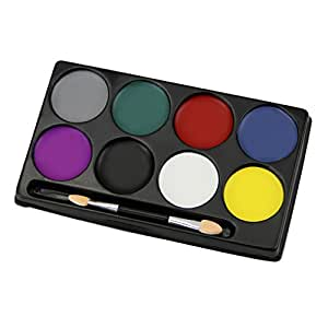 Face Body Painting Kit 8 Flash Colors Professional Face Body Paint Oil Special Effects Cosmetic Case Makeup Painting Palette Set Great for Halloween, Theme Parties, Cosplay, Fancy Dress Ball, Stage Performance