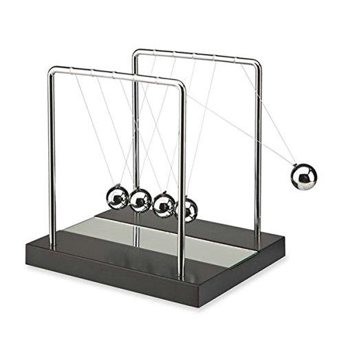 kkwell Regalo San Valentino di Newton Cradle Balance sfera Science Puzzle giocattolo da scrivania - Specchio - Medium - 02 Specchio
