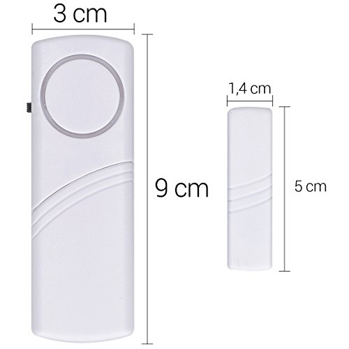 kwmobile Türen – und Fenster Alarm – 4er Set akustischer Einbruchschutz inkl. Batterien – drahtlose Alarmanlage – 100dB Lautstärke – Home Security - 3