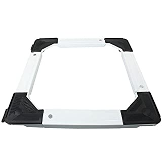 4YourHome Heavy Duty Fully Adjustable Squared Appliance Roller Base, metal