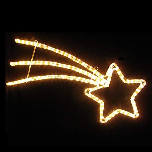IKu ® LED Sternenschweif 85x45 cm Weihnachten Komet mit warmweissem LED Lichtschlauch