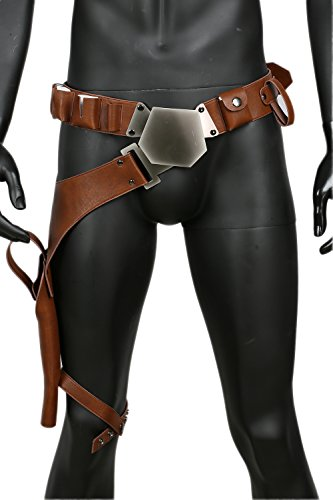 Star Kostüm Wars Replik - Han Solo Gürtel mit Holster Update-Version Deluxe Cosplay Kostüm Replik für Erwachsene Herren Verrücktes Kleid Zubehör
