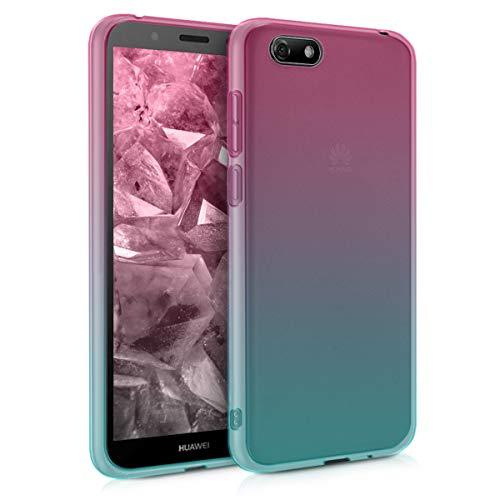 kwmobile Huawei Y5 / Y5 Prime (2018) Hülle - Handyhülle für Huawei Y5 / Y5 Prime (2018) - Handy Case in Pink Blau Transparent