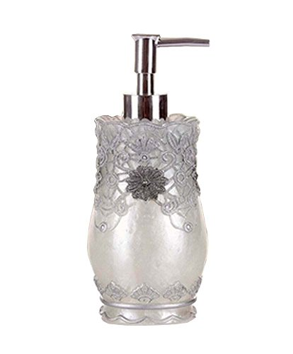 [Silver Lace] Elégant Bouteille Résine Distributeur de savon Lotion