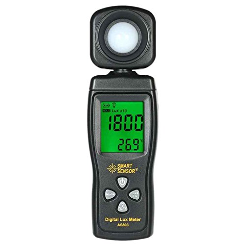 Morza SMART Sensor AS813 Digitale Lux Light Meter 1-200000 Lux Lumenmeter High Precision Lux/FC Tester Light Lux Meter