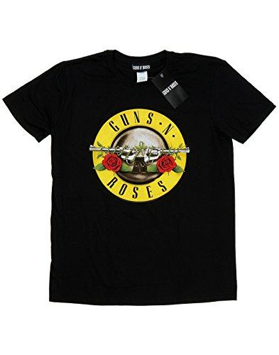 Guns N Roses Bambini e ragazzi Bullet Logo Maglietta 7-8 Years Nero