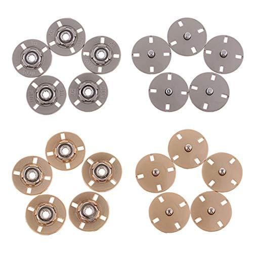 P Prettyia 10 Sätze 21mm Metall Nähen Auf Druckknöpfen Druckknopf Popper DIY Handwerk Werkzeug -