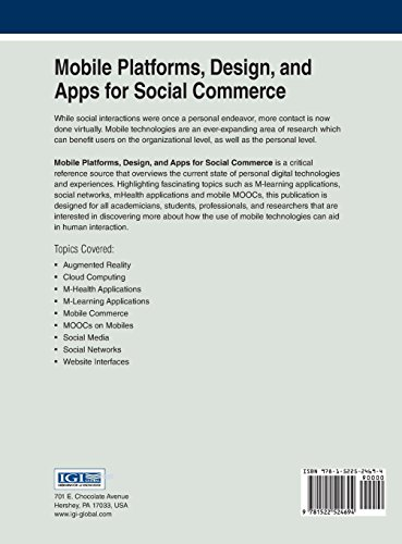 Mobile Platforms, Design, and Apps for Social Commerce (Advances in E-Business Research)