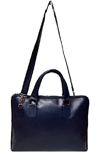 Cartella in vera pelle made in italy BC801 Blu