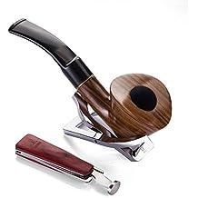A.P. Donovan - El tabaco de pipa Conjunto hecho a mano (con tubos de acero inoxidable Soporte) - para filtros de 9 mm - Pockwood (Mitnal)