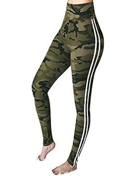 CICIYONER Pantalones con Estampado Floral para Mujer Pantalones Casual para Mujer
