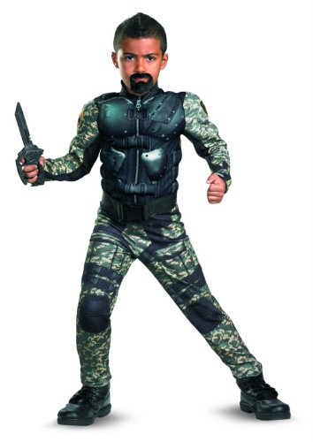 Disguise G.I. Joe Retaliation Stra-ensperre klassische Muscle Kinderkost-m 4-6