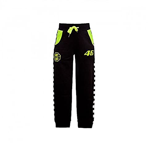 Valentino Rossi VR46 Moto GP 46 Kids Fleece Pants Black