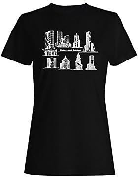 Moderno esbozo edificios Novedad Funny camiseta de las mujeres mm35f