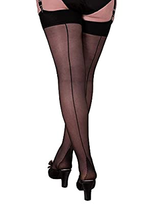 What Katie Did Seamed Stockings Black Glamour