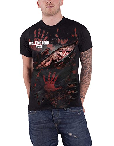 Spiral Direct T Shirt Zombie All Infected Walking Dead Ripped Official Mens