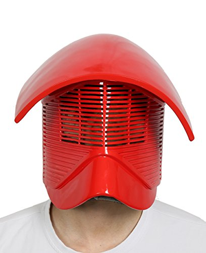 DealTrade Elite Guard Helm Cosplay Kostüm Halloween Erwachsene Rot Harz Vollkopf Maske Replik Fancy Dress Costume Merchandise