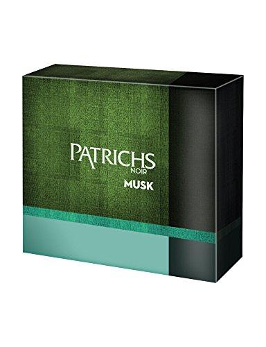 Patrichs Cofanetto Musk Dopobarba - 75 ml, Gel Doccia - 250 ml, Taccuino
