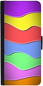 Snoogg Zoom Wave 2419 Designer Protective Flip Case Cover For Samsung Galaxy A7