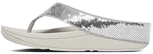 Ringer Sequin Toe Post - Silver Argento