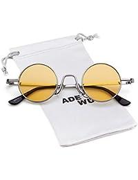ADEWU Gafas de sol ovaladas Vintage Street Style Eyewear con borde de metal  fino Hombres Mujeres 6d34b1937c39