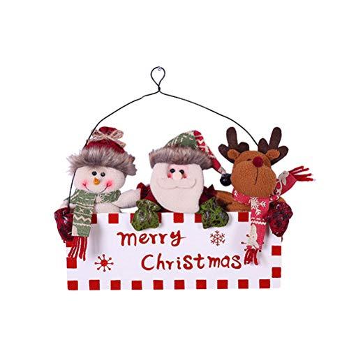 BESTOYARD Weihnachtsmann Türschild zum Aufhängen an der Tür, für Zuhause, Restaurant, Geschäft, Bar, weiß, 30x23cm