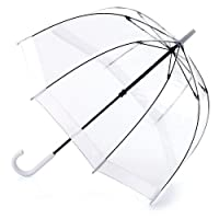 Fulton Birdcage-1 Clear Dome Umbrella with White border