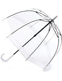 Fulton Birdcage-1 clairement parapluie en forme de dôme avec une bordure blanche