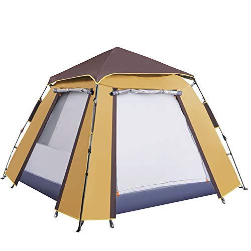 Outdoor Camping tragbare automatische Zelte Uv-Schutz für Strand Garten Familie belüftet und dauerhaften Regen hat keine Angst vor der Sonne mit einfachen Einrichtung (Kamel Mann Mit)