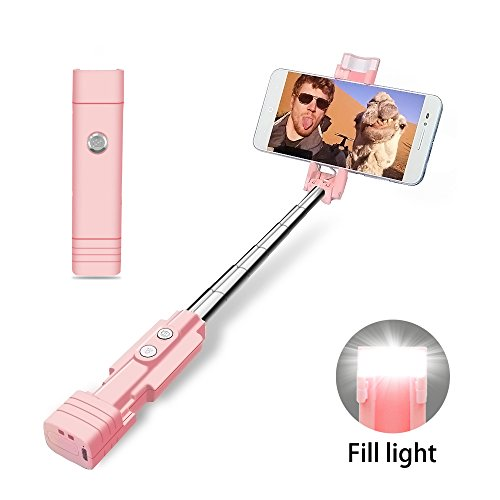 atongm Bastone Selfie Selfie Stick, Palmare Wired Selfie Stick con...