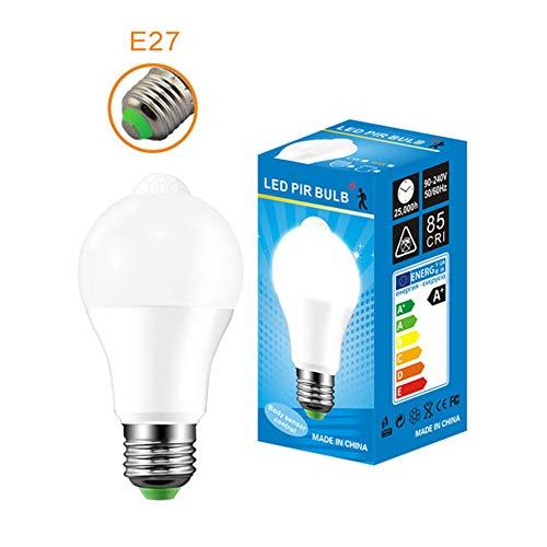LED-Lampe, 10 W, wiederaufladbar, intelligentes Verdunkelungslicht, batteriebetrieben, Induktion, 1 Stück E27 warmweiß