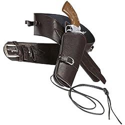 Widmann - Cinturone da Cowboy in Similpelle Marrone, con Fondina