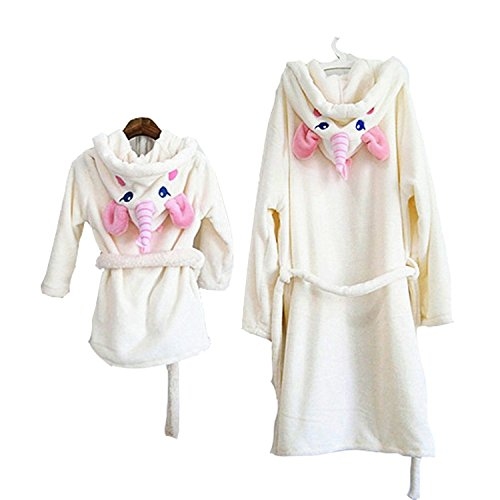 MJTP Einhorn Bademäntel Strampelanzüge für Mädchen und Damen Kinder Cosplay Kostüme Pyjamas (Bademantel Kostüm Frauen)