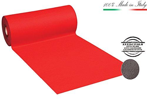 Alfombra de moqueta PASSATOIA roja antideslizante ancho, 100 cm, venta al metro lineal para comprar inserisci el número de metros deseados en cantidades