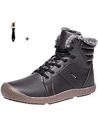 db29a2044f946 QUICKLYLY Botas para Hombre Calzado De Protección Zapatos Botines  Impermeables De Algodón Deportivos De Matorral Cortas