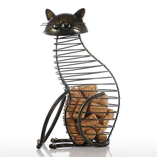 Katze Göttin Kostüm - Yxyxml Europäischen Stil Katze flaschenverschluss dosen Eisen Handwerk weinverschluss aufbewahrungseimer Dekoration Ornamente