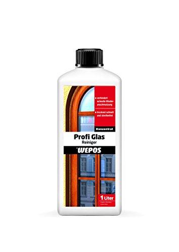 Wepos 2000103658, Detergente professionale per vetri, 1 litro